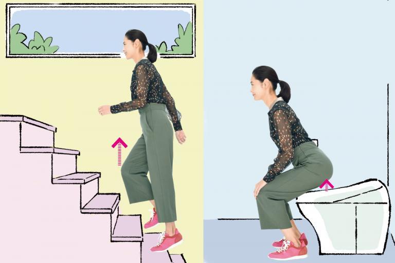 在宅でも職場でも! トイレ・階段で「ついでトレ」/「座りっぱなし」のトラブル予防に!②