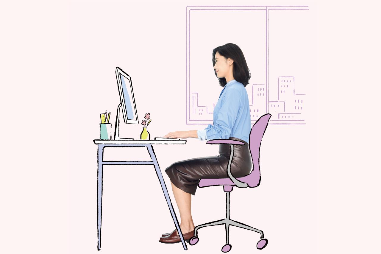 在宅ワーク、あなたに合った椅子と机の高さの計算式は/「座りすぎ時代」のセルフケア③