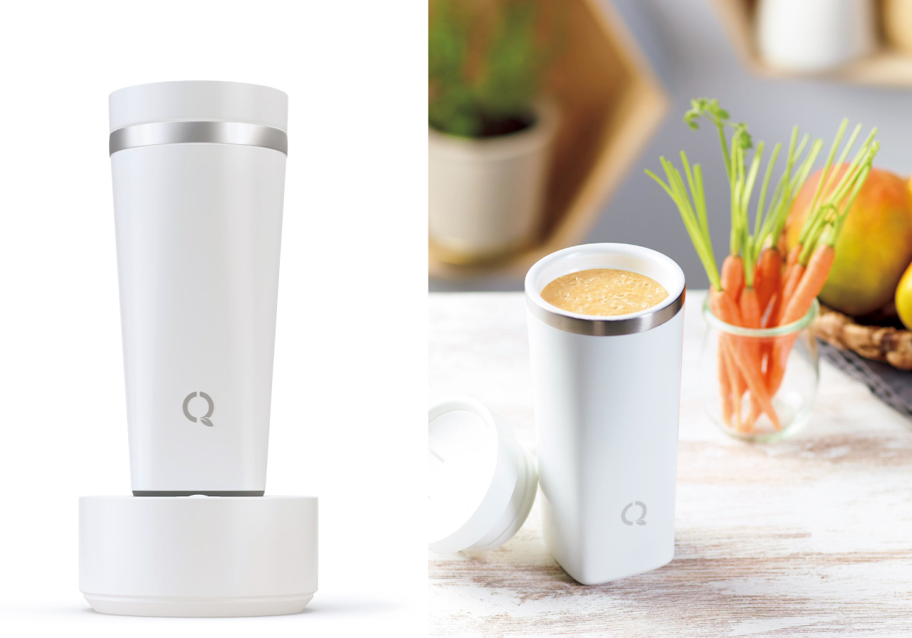 手軽にエアリーな食感のホット&アイススムージーが作れる「ネスキーノ」専用ブレンダー「Q-cup(キューカップ)」