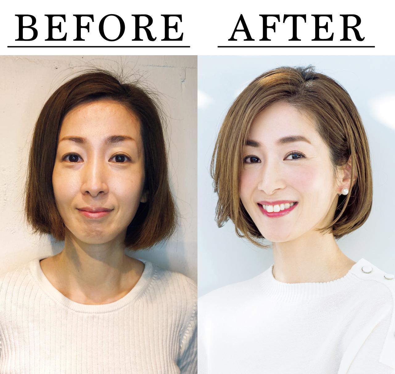 岩本三枝さん Before After