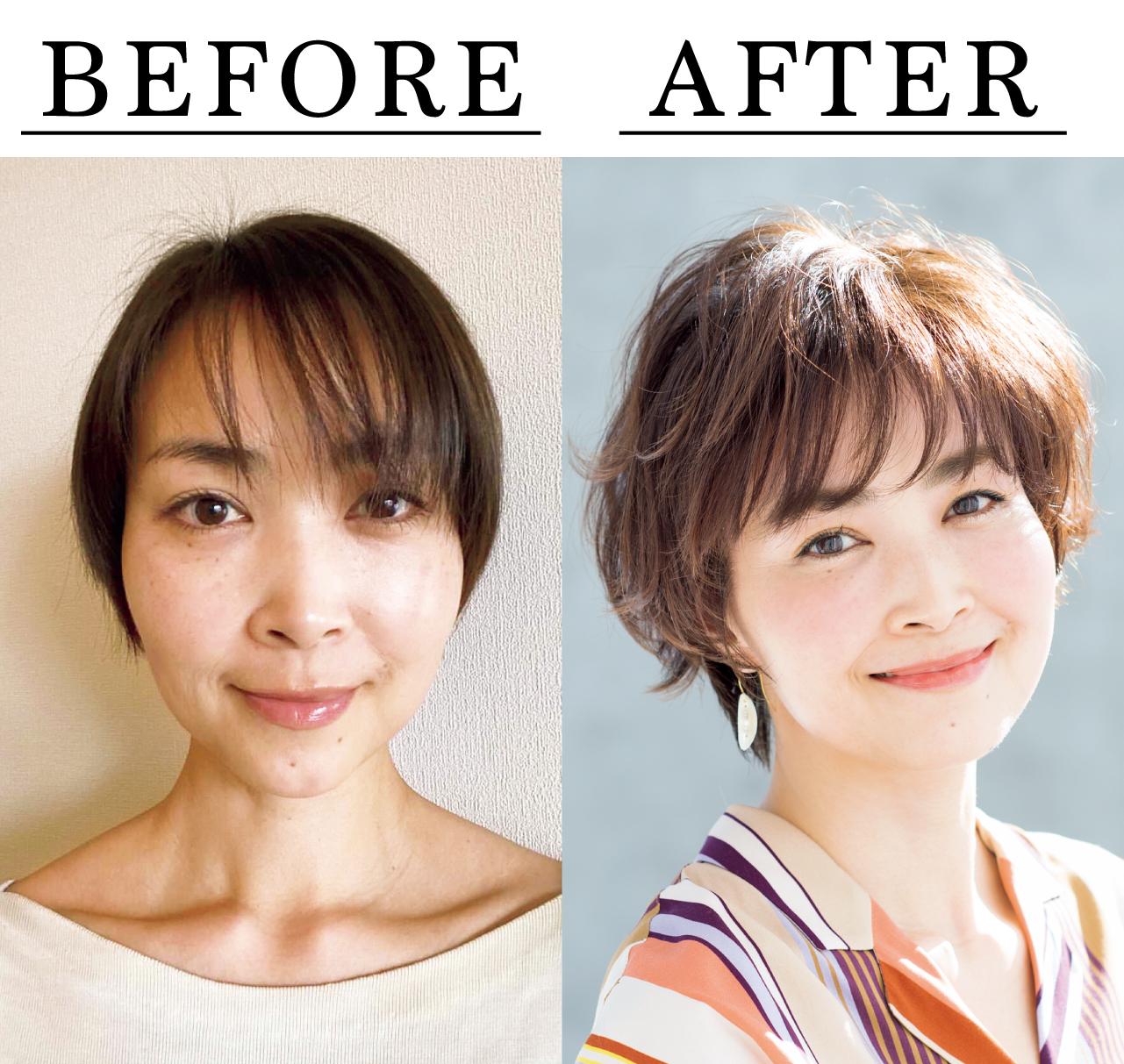 西原英理子さん Before After