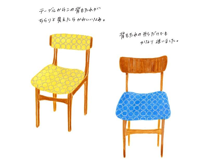 北欧家具 椅子 イラスト ミナペルホネン