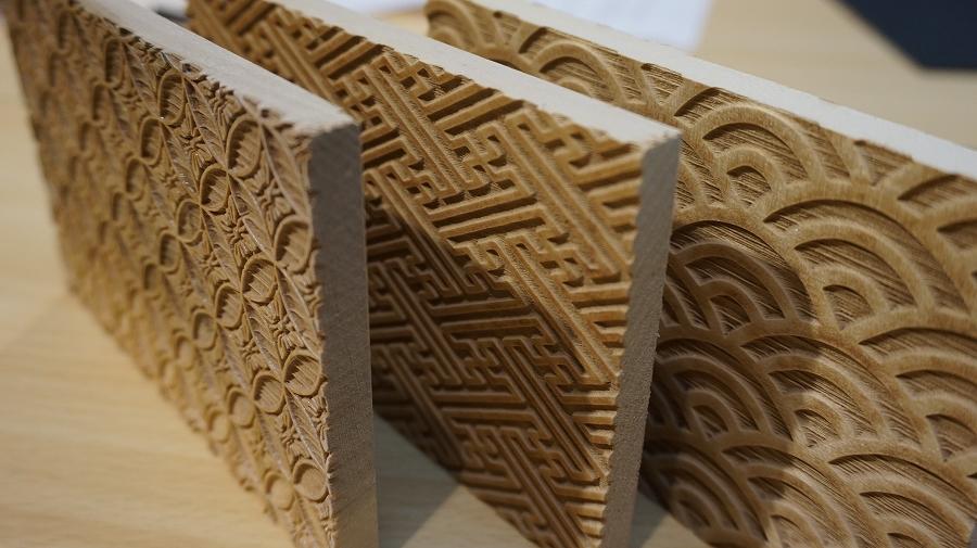 小原おでかけ 京都「唐丸」唐紙手作りキット「キラレ」版木の乾燥DSC0578