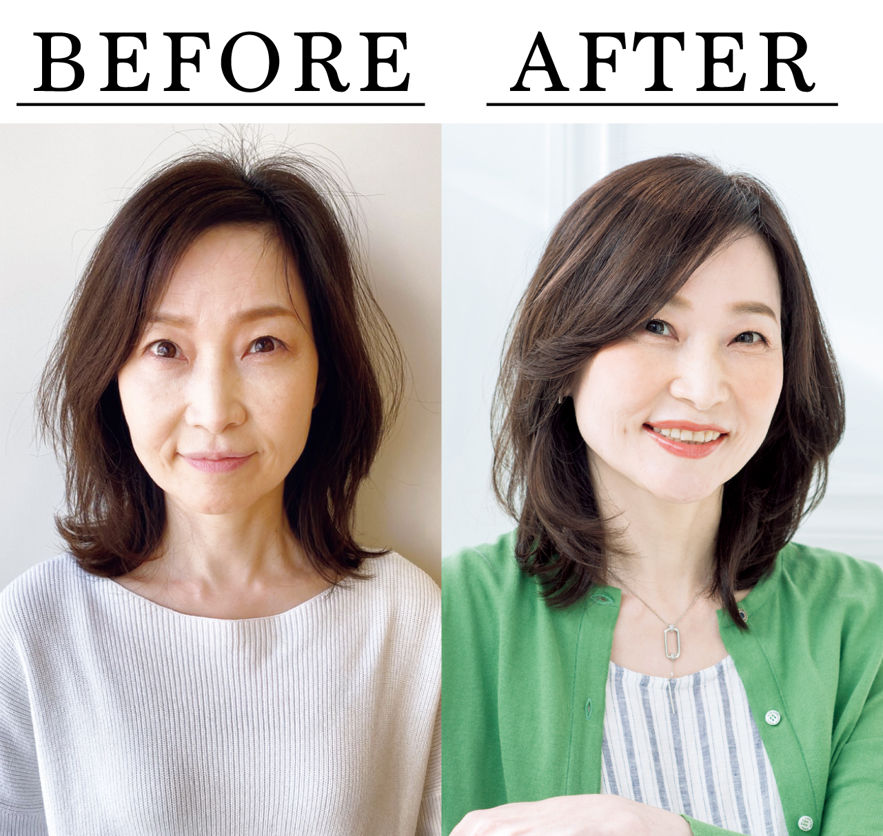 佐野裕子さん Before After