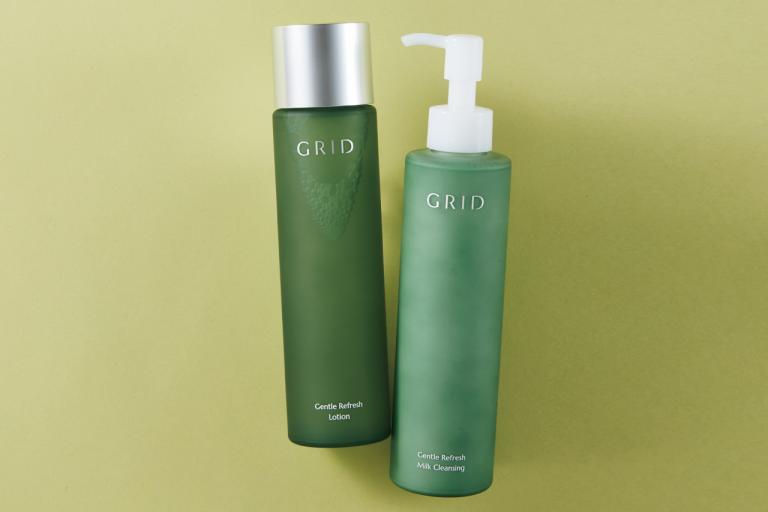 肌がふっくら、透明感アップ。クレンジングの重要性を実感/GRID ジェントル リフレッシュ ミルククレンジング、ローション