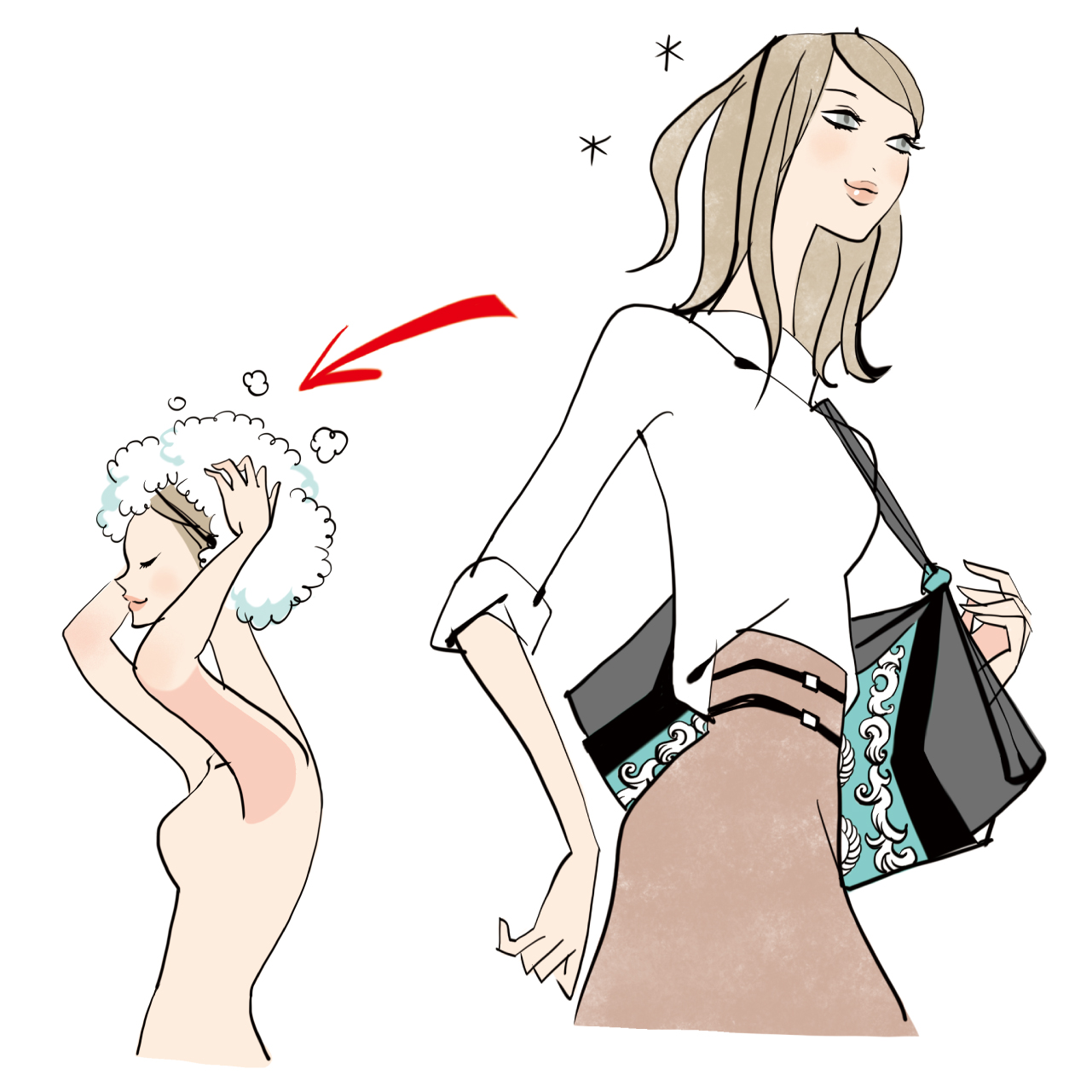白髪染めをしたら、なるべく早く理想的な頭皮環境に導くケアを