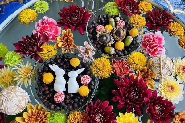 川越のお寺で、花いっぱいの素敵な体験