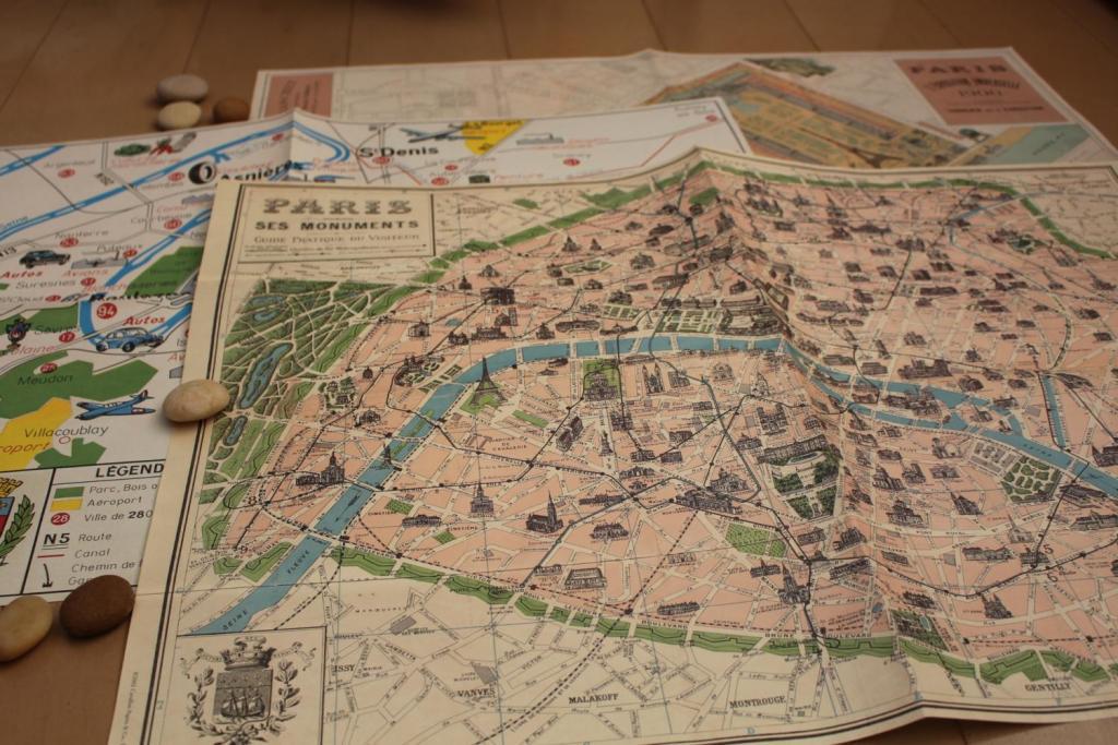 マドレーヌ 万国博覧会のパリ地図復刻