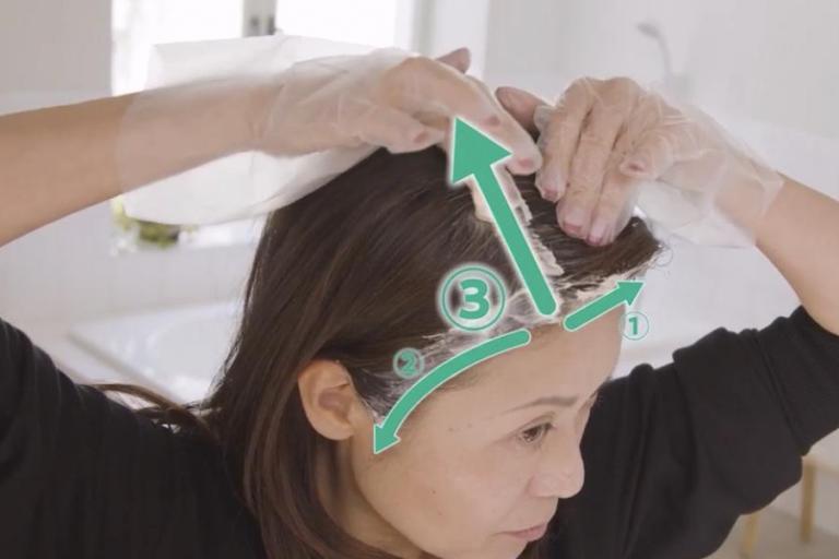 【3分動画】もう白髪が目立ってきた! 次の美容院までの「つなぎ染め」テク