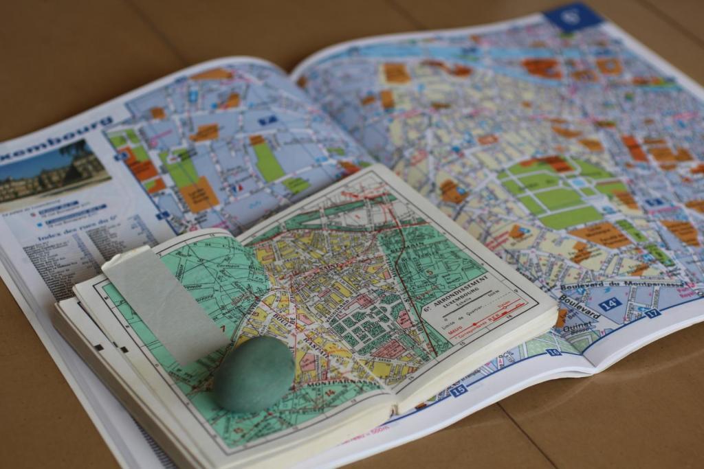マドレーヌパリ地図を4倍サイズに変更