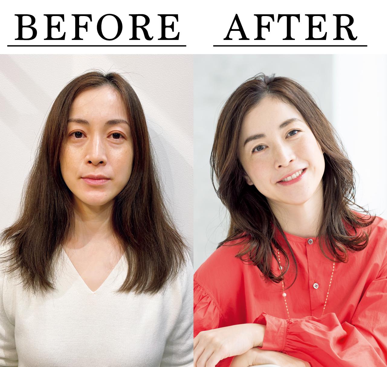 鳥居香絵さん Before After