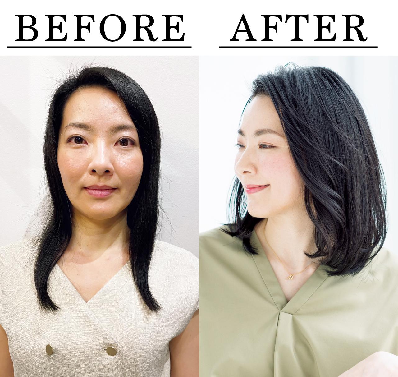 吉良美帆さん Before After