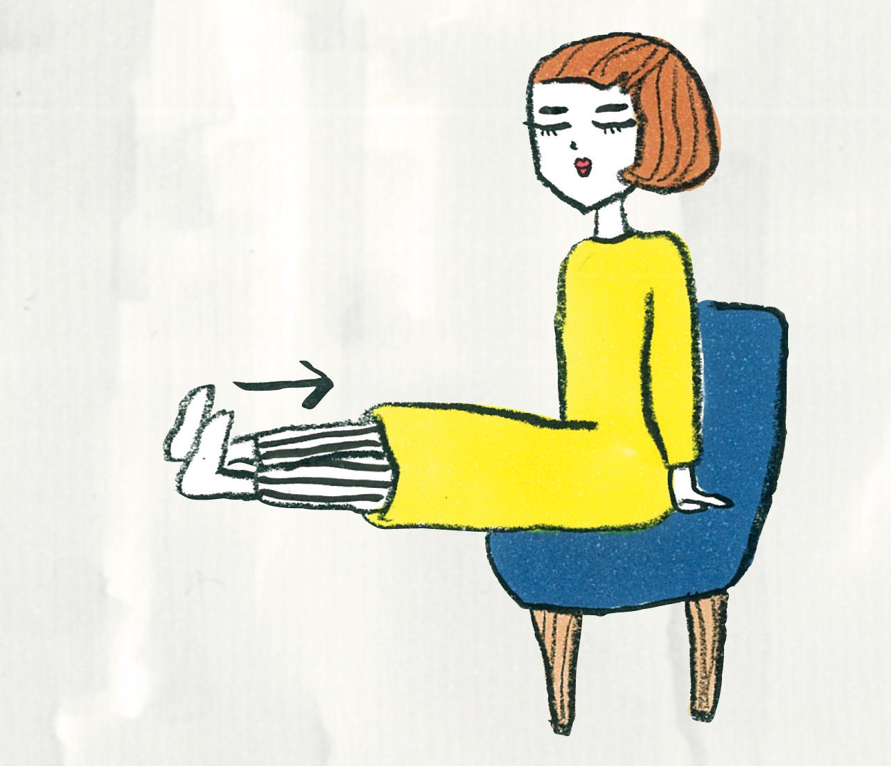3. 脚のリラックス