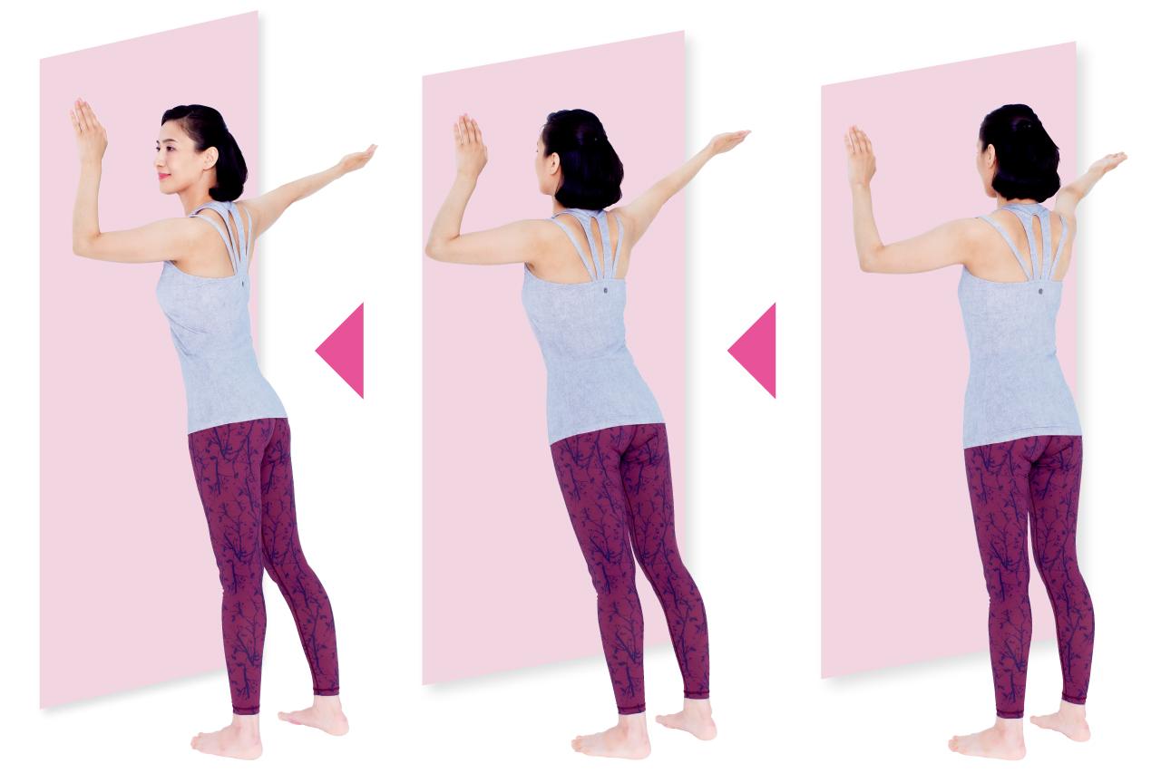 首と肩のこり&痛み改善も、基本は胸と脇の緊張を緩める/30秒ストレッチ②
