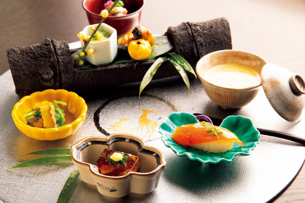 季節の素材を贅沢に使った全7品の前菜