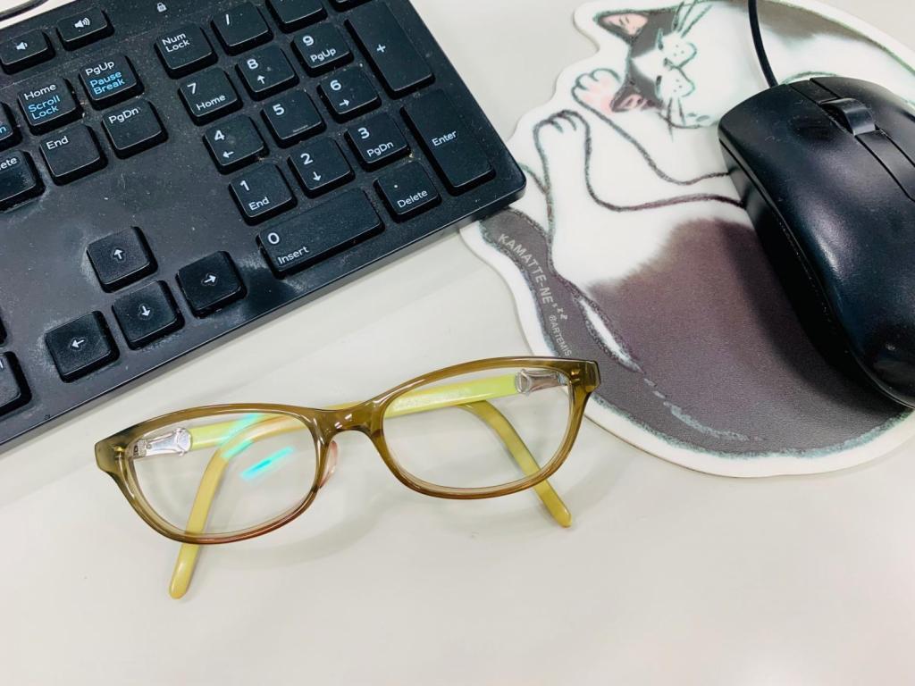 数年前から使っている老眼鏡