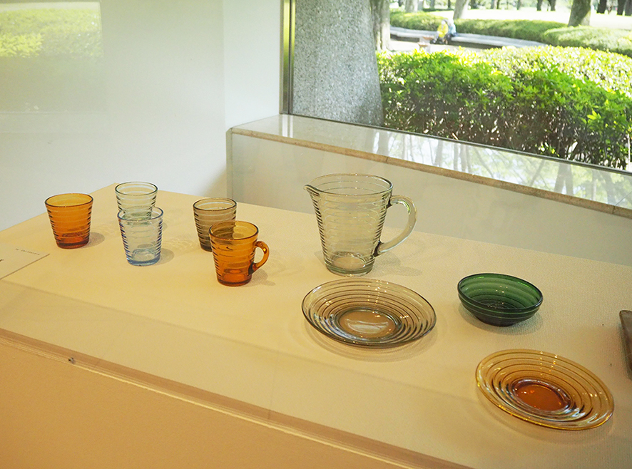 世田谷美術館 アアルト展 アイノデザインのガラス器
