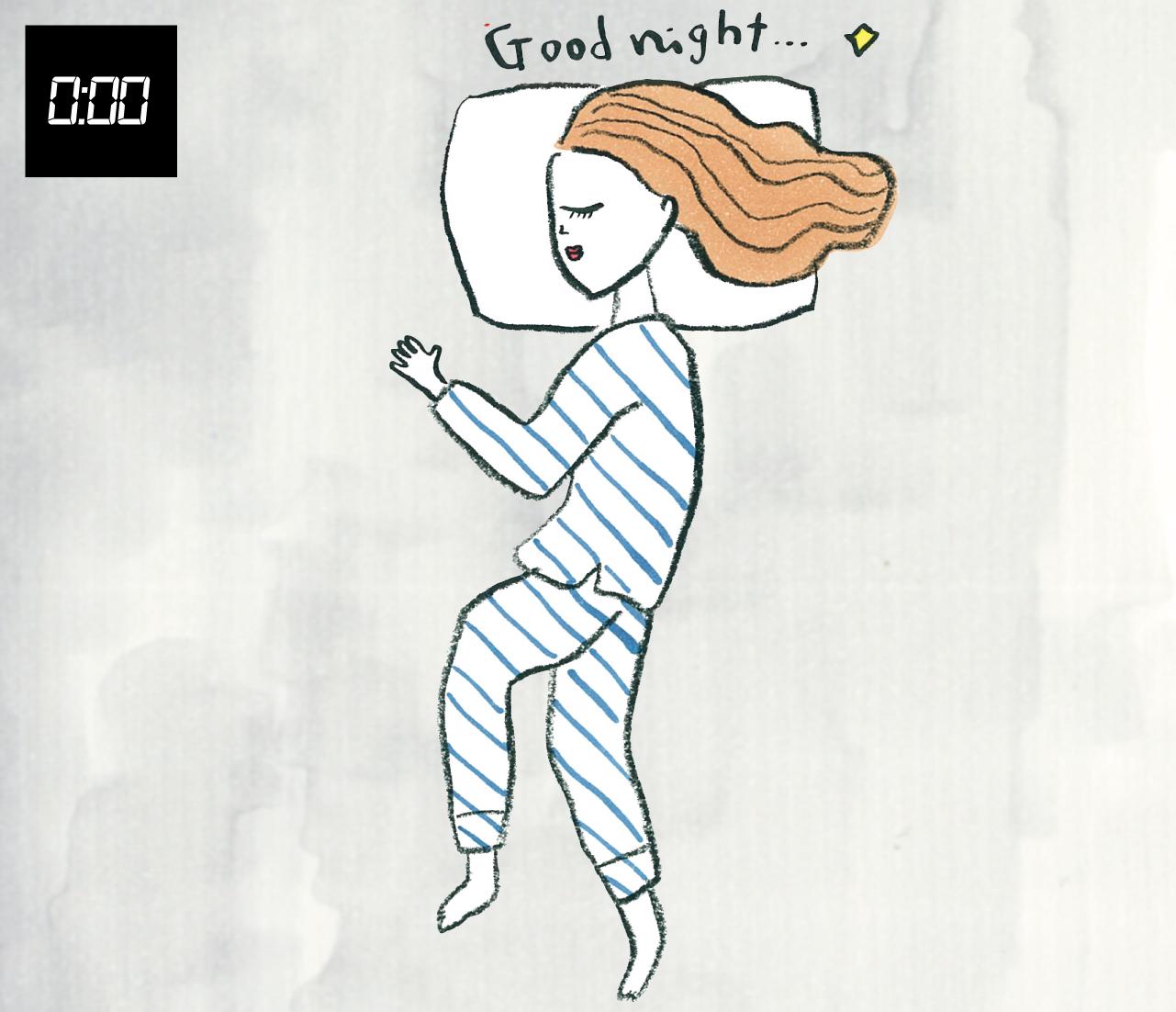 0:00 右向き寝で、いびきを防ぎ、自律神経の疲労を防ぐ