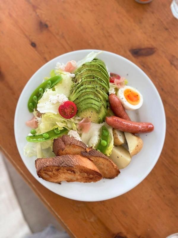 朝食プレート アボカド 春サラダ
