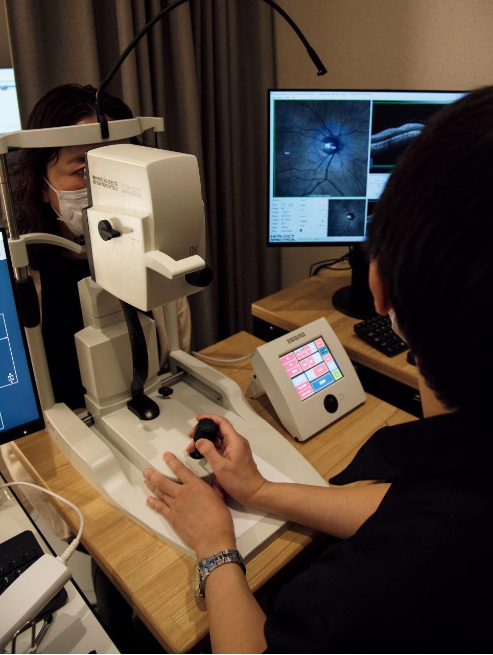 OCT・眼底検査、視野の検査