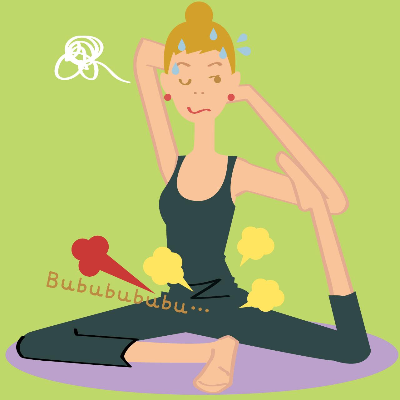 ヨガなどの運動をしているときに、腟から空気が出るのを感じる