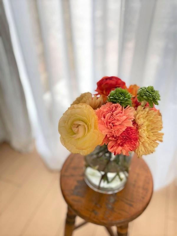 花瓶に生けたユニクロフラワー