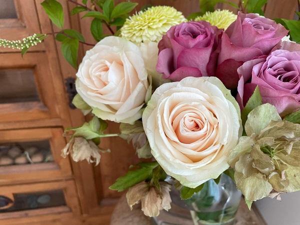 バラの花束 マフィーユほか