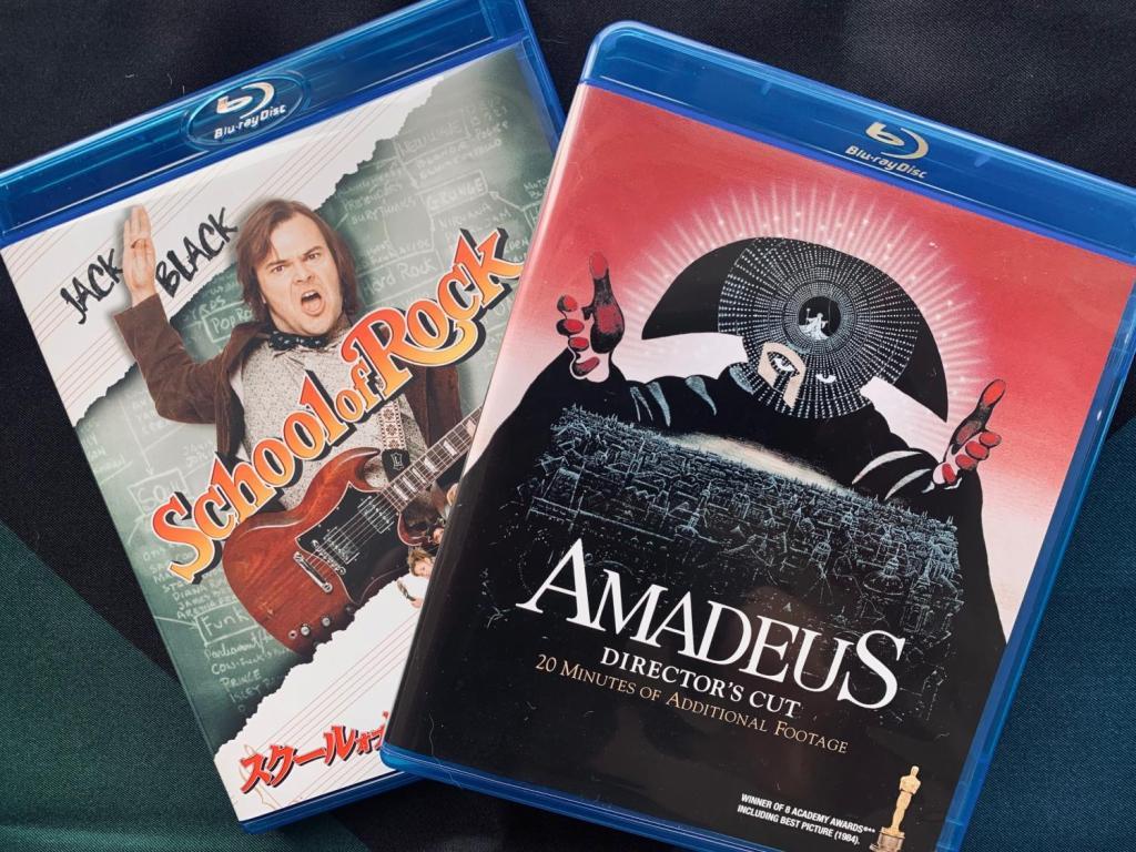 「アマデウス」「スクールオブロック」DVD