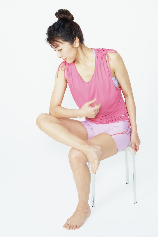 ぽっこりお腹凹ませマニュアルのステップ1、筋膜リリース