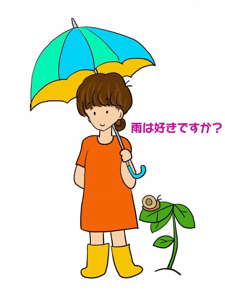 hijiriさん 雨イラスト