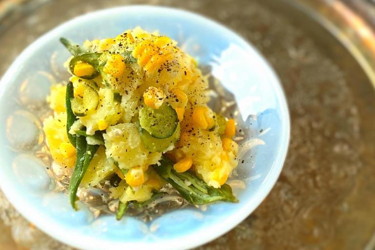 ボウルひとつでOK! 酸化防止&疲労回復に 夏野菜のポテトサラダ