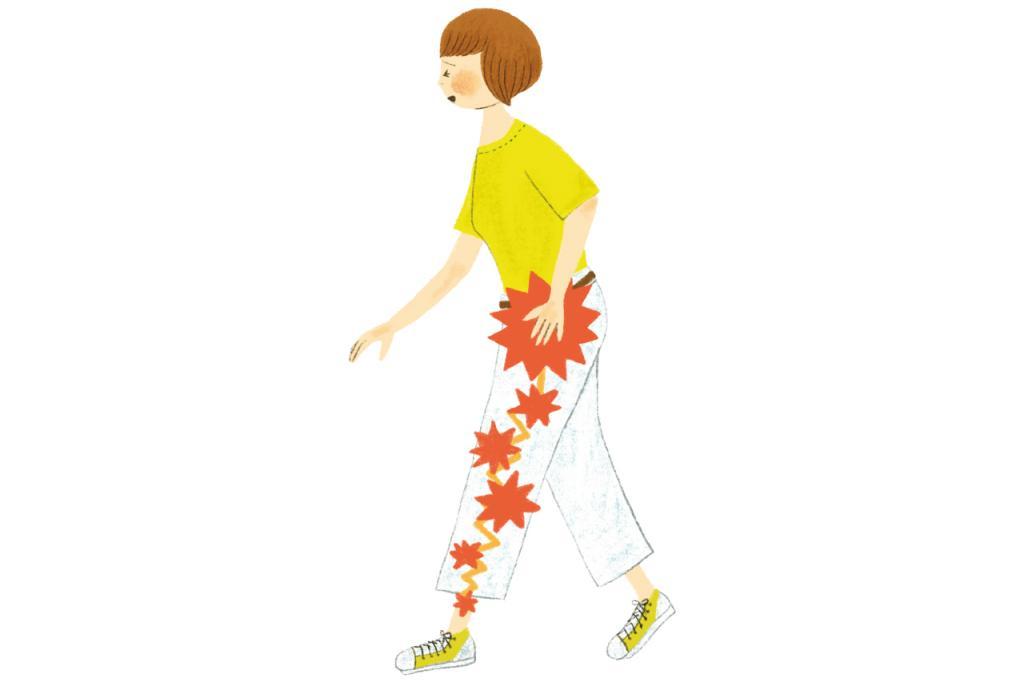 「坐骨神経痛」は腰からもも裏、足先までの太く長い神経に痛みやしびれが出る症状/教えてDR.!第14回