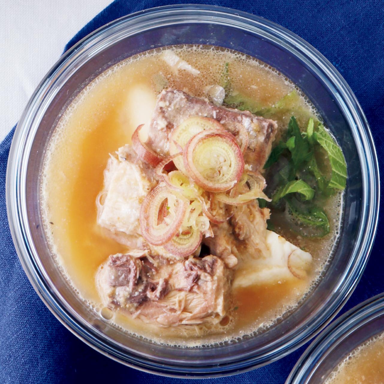 サバの水煮入り冷や汁麺
