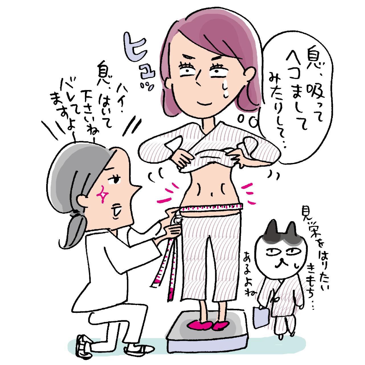 腹囲検査イラスト
