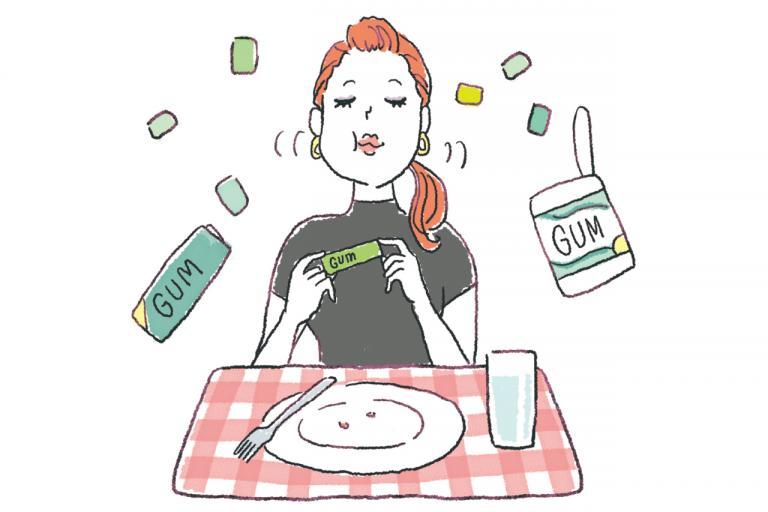 食前食後にガムを嚙むと、無駄な食欲が抑えやすいワケ/やせる食べグセ45|食べ方編⑥