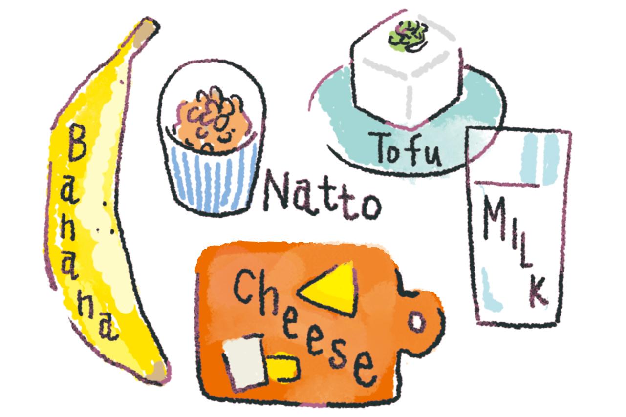 大豆食品や乳製品などトリプトファンの多い食材で睡眠の質を高める