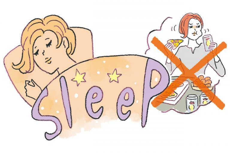 会食の「どか食い」を避けたいなら前日しっかり寝るべき! その理由は?/やせる食べグセ45|食べ方編⑧