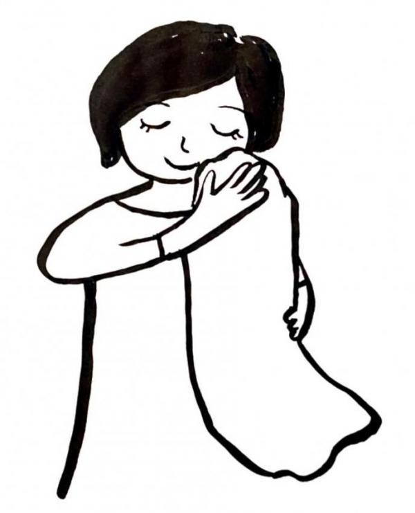 樫出さん 毛布