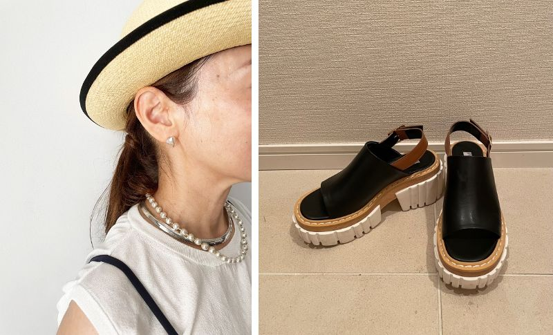 小林さん 帽子と靴